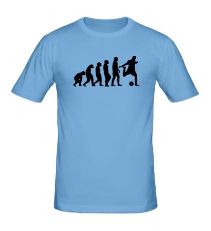 Мужская футболка Футбольная Эволюция