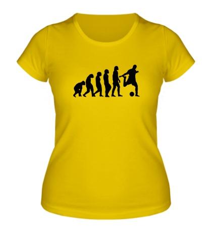 Женская футболка Футбольная Эволюция