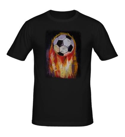 Мужская футболка Огненный футбол