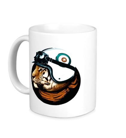 Керамическая кружка Тигр-летчик