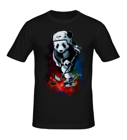 Мужская футболка Панда-хоккеист
