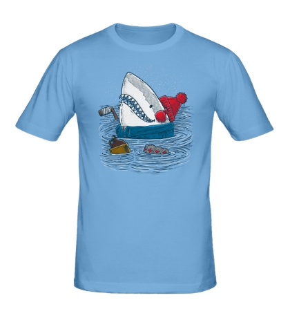 Мужская футболка Акула-хоккеист