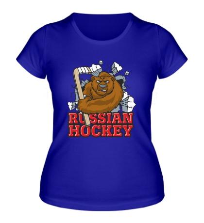 Женская футболка Russian Hockey Bear