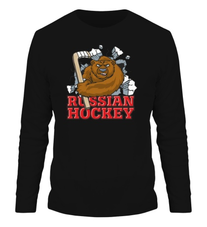 Мужской лонгслив Russian Hockey Bear