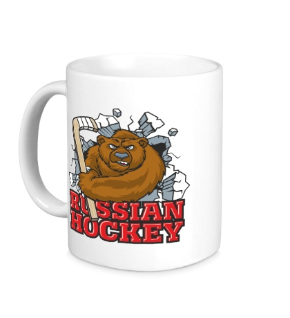 Керамическая кружка Russian Hockey Bear