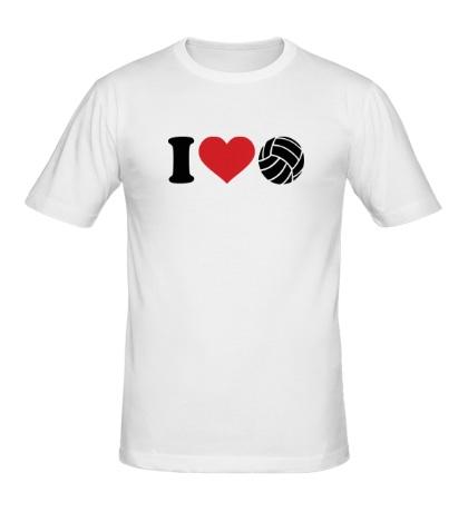 Мужская футболка I love volley
