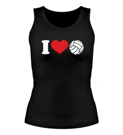 Женская майка I love volley