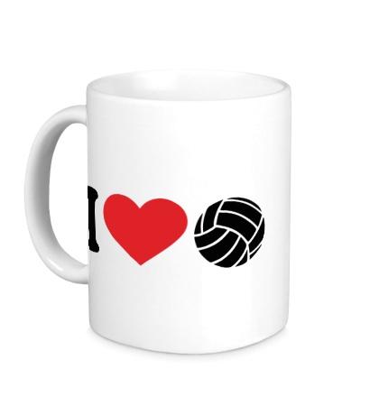 Керамическая кружка I love volley