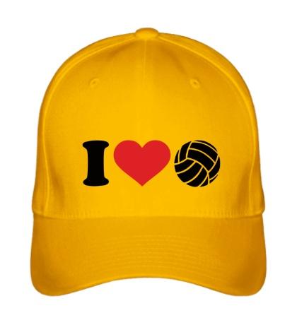 Бейсболка I love volley