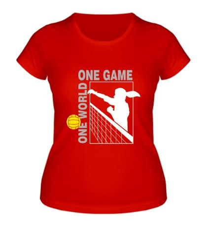 Женская футболка Один мир, одна игра