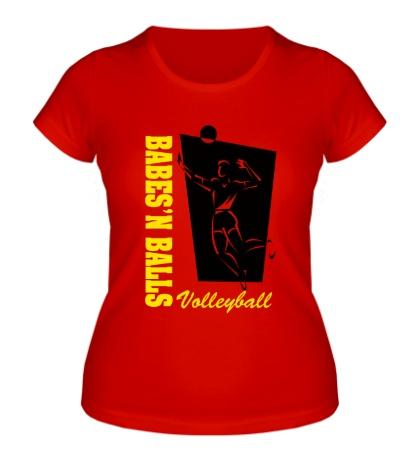 Женская футболка Volleyball Balls