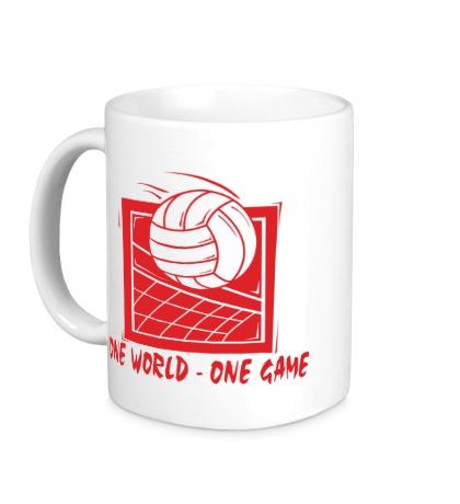 Керамическая кружка One world, one game