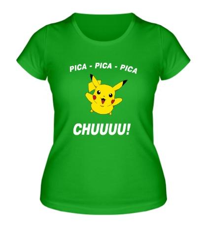 Женская футболка Клич Пикачу