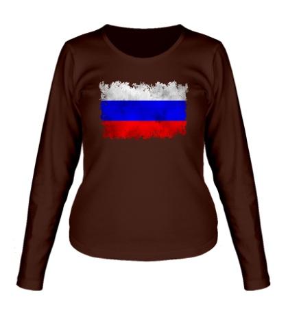 Женский лонгслив Флаг РФ