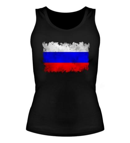 Женская майка Флаг РФ