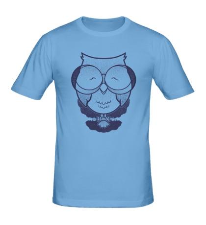 Мужская футболка Сова в очках