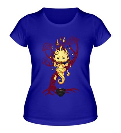Женская футболка Чайный дракон
