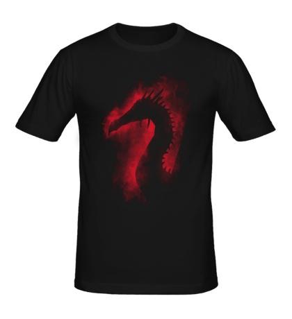 Мужская футболка Силуэт дракона