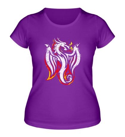 Женская футболка Дракон-Феникс
