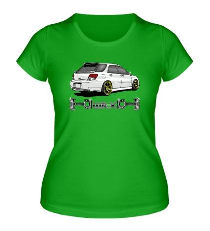 Женская футболка Subaru Forester WRX