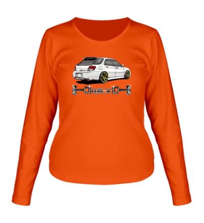 Женский лонгслив Subaru Forester WRX