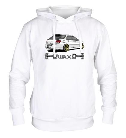 Толстовка с капюшоном Subaru Forester WRX