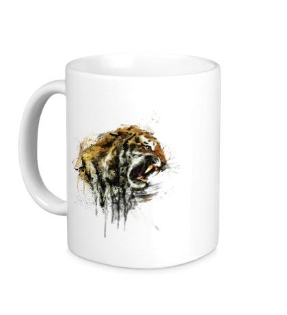 Керамическая кружка Ярость тигра