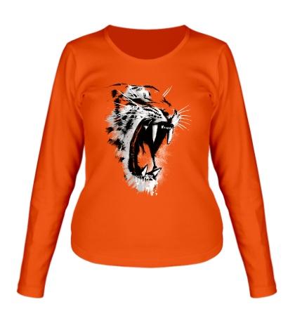Женский лонгслив Инстинкт тигра