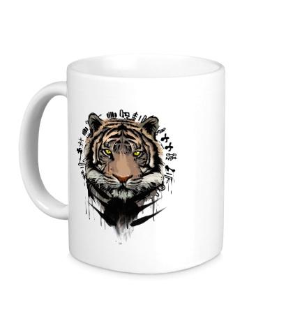 Керамическая кружка Black Tiger