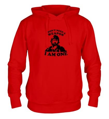 Толстовка с капюшоном Chuck Norris: I am one