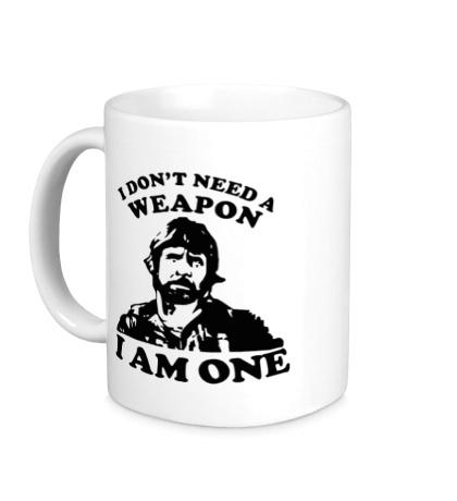 Керамическая кружка Chuck Norris: I am one