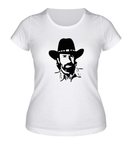Женская футболка Чак Норрис