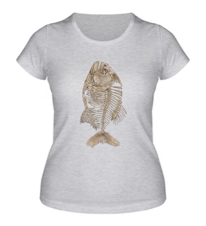 Женская футболка Рыбий скелет