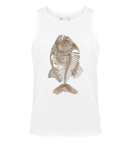 Мужская майка Рыбий скелет