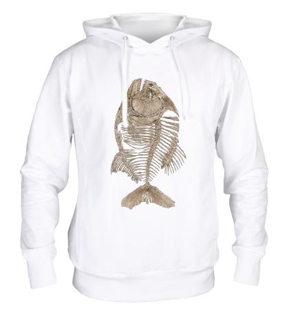 Толстовка с капюшоном Рыбий скелет