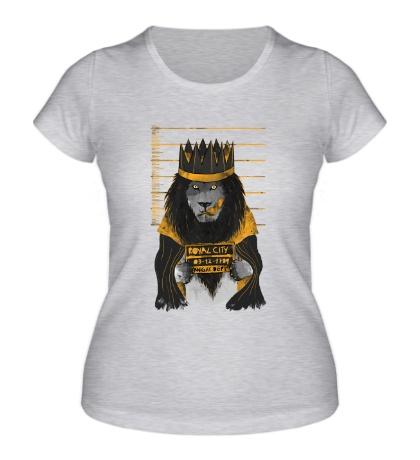 Женская футболка Арестованный лев
