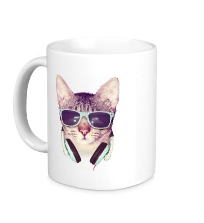Керамическая кружка Молодежный кот