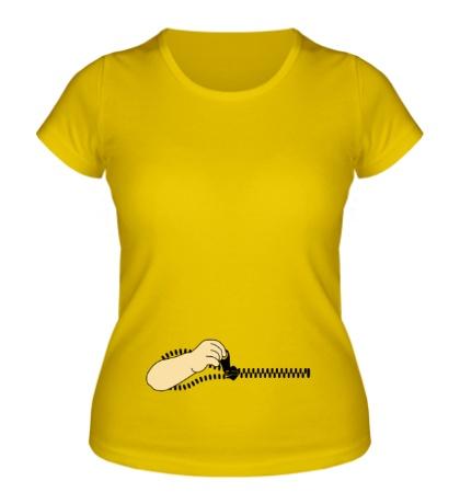 Женская футболка Застегивающая рука