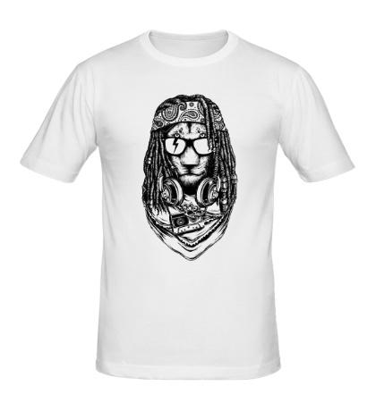 Мужская футболка Рокерский лев