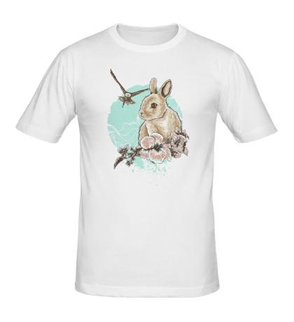 Мужская футболка Весенний кролик