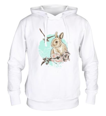 Толстовка с капюшоном Весенний кролик