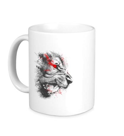 Керамическая кружка Дикий тигр