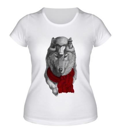 Женская футболка Волк самозванец