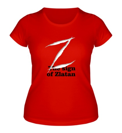 Женская футболка The sign of Zlatan