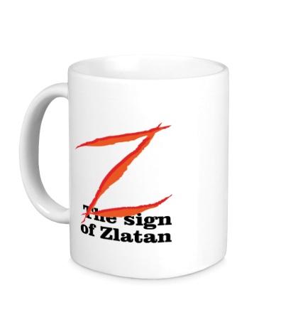 Керамическая кружка The sign of Zlatan