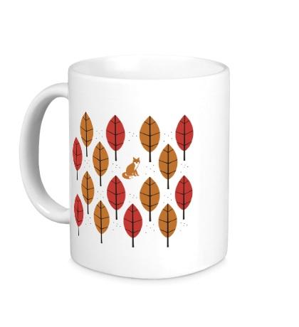Керамическая кружка Осенний Лис