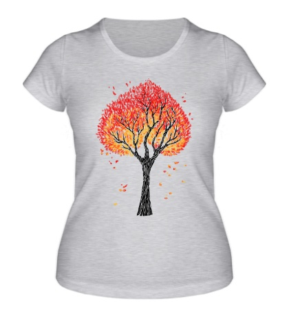 Женская футболка Осеннее дерево