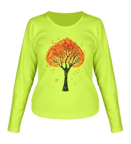 Женский лонгслив Осеннее дерево