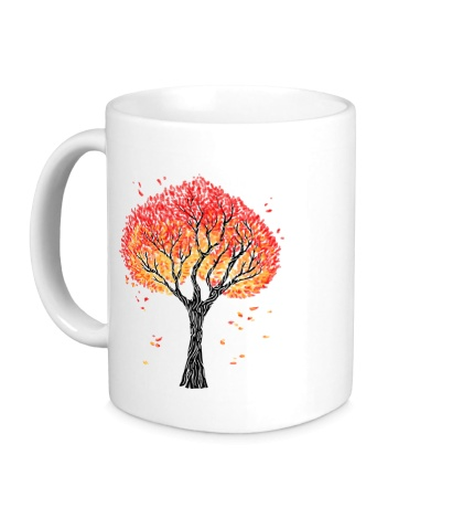 Керамическая кружка Осеннее дерево