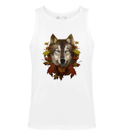 Мужская майка Осенний Волк